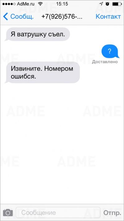 17СМС отлюдей, которые ошиблись номером