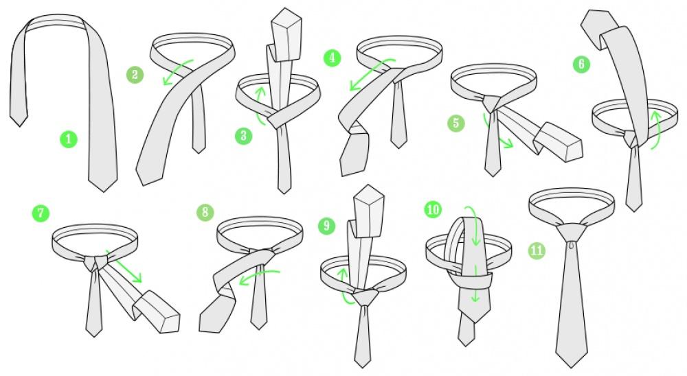7способов красиво завязать галстук
