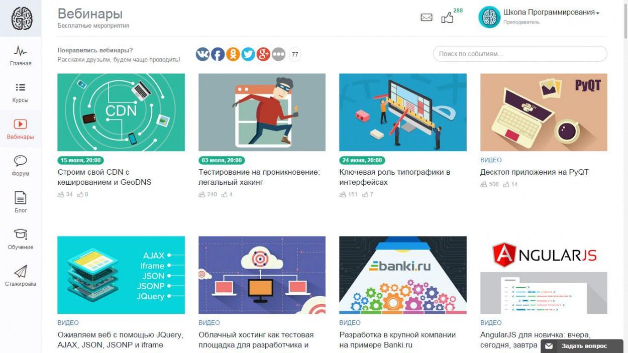 Рейтинг бесплатных материалов по программированию от GeekBrains