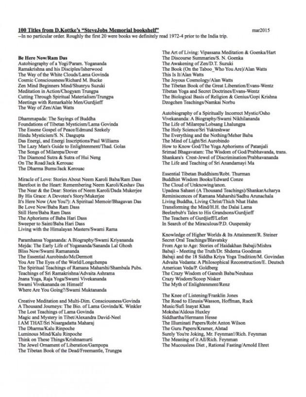Книги о духовности из библиотеки Джобса
