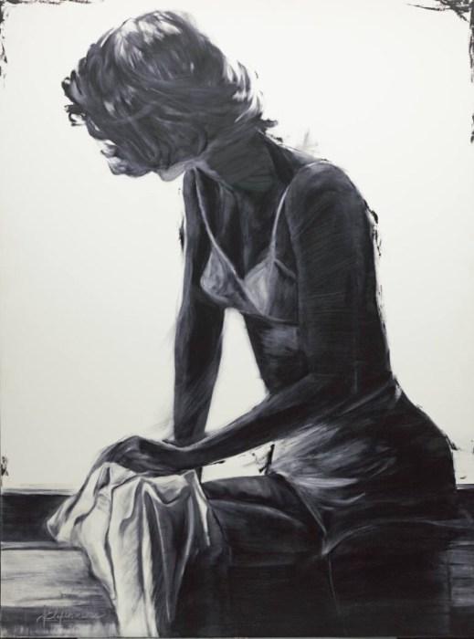 Нежный образ из серии работ «Блюз». Автор: художница-самоучка Джанель Элефтекракис (Janel Eleftherakis).