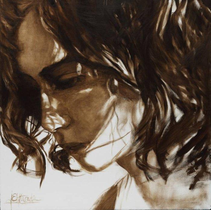 Данную серию работ под названием «Сепия», Джанель посвятила своей бабушке Эвелин. Автор: художница-самоучка Джанель Элефтекракис (Janel Eleftherakis).