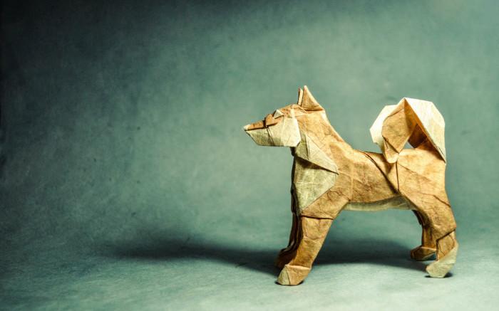 Дружелюбный пёс. Мастер оригами: Гонсало Гарсия Кальво (Gonzalo Garcia Calvo).