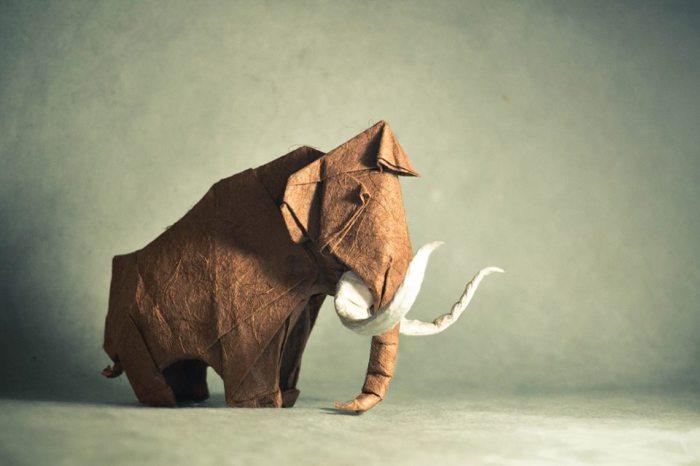 Последний из мамонтов. Мастер оригами: Гонсало Гарсия Кальво (Gonzalo Garcia Calvo).