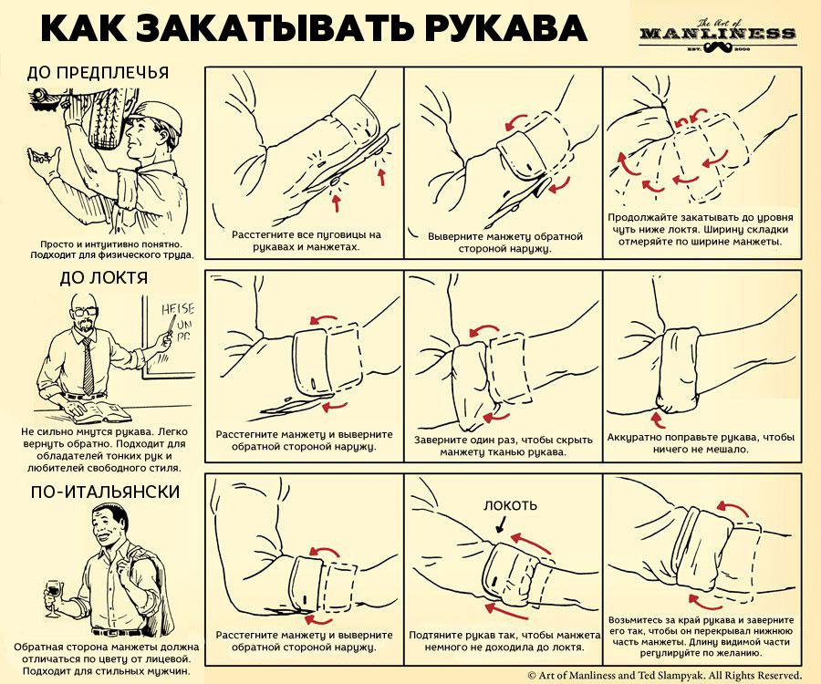 Как закатывать рукава
