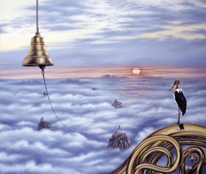 Птица Марабу на крыше Мира. Автор: Андрей Горенков.