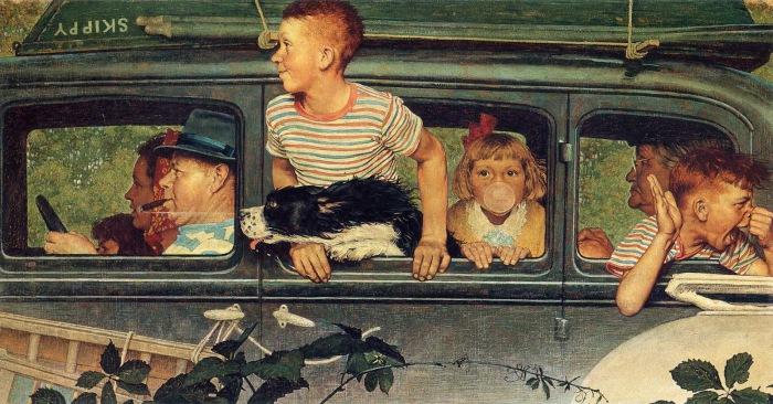 Поездка за город. Автор: Norman Rockwell.