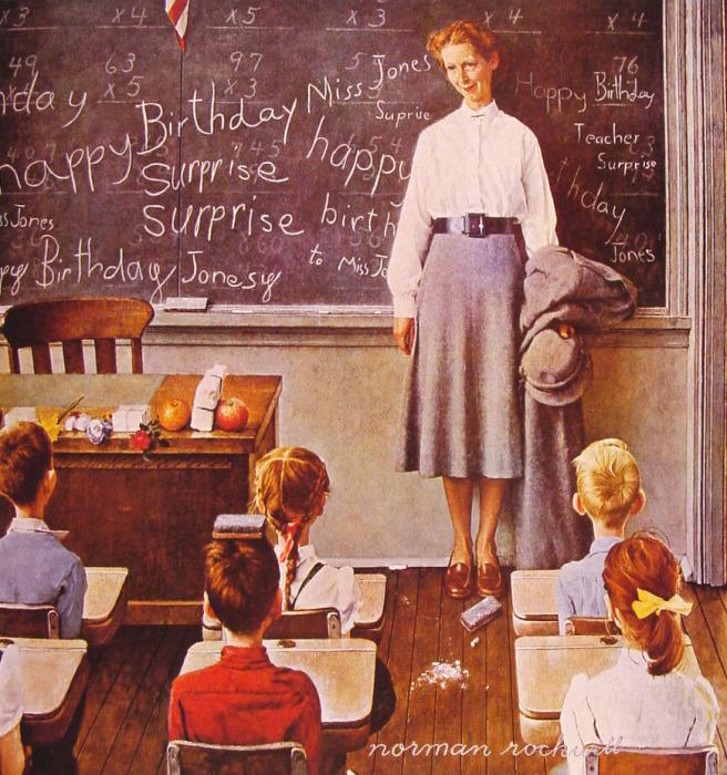 Учительские любимчики. Автор: Norman Rockwell.