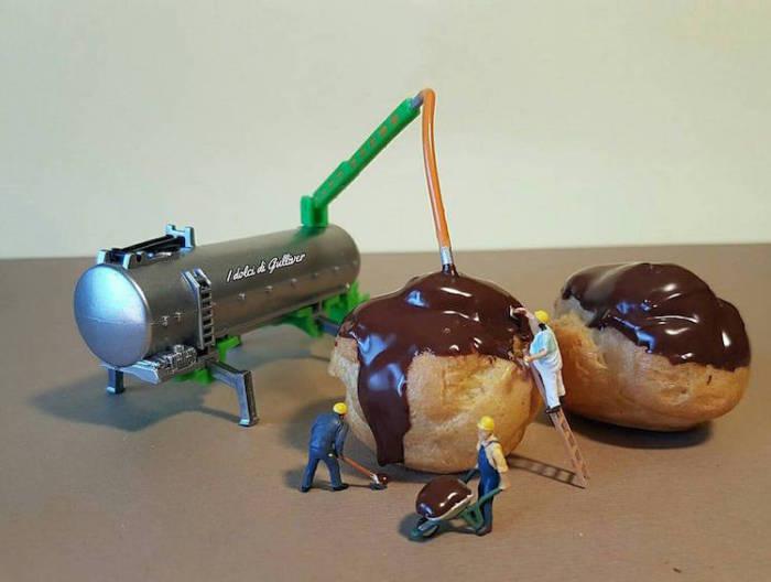 Заварные пирожные с воздушным кремом.