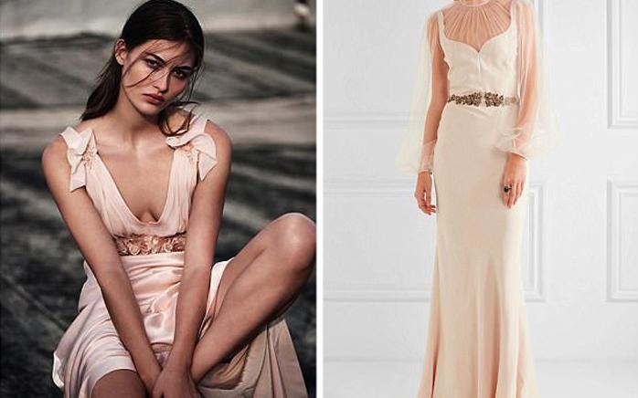 Какое платье стоит дороже?