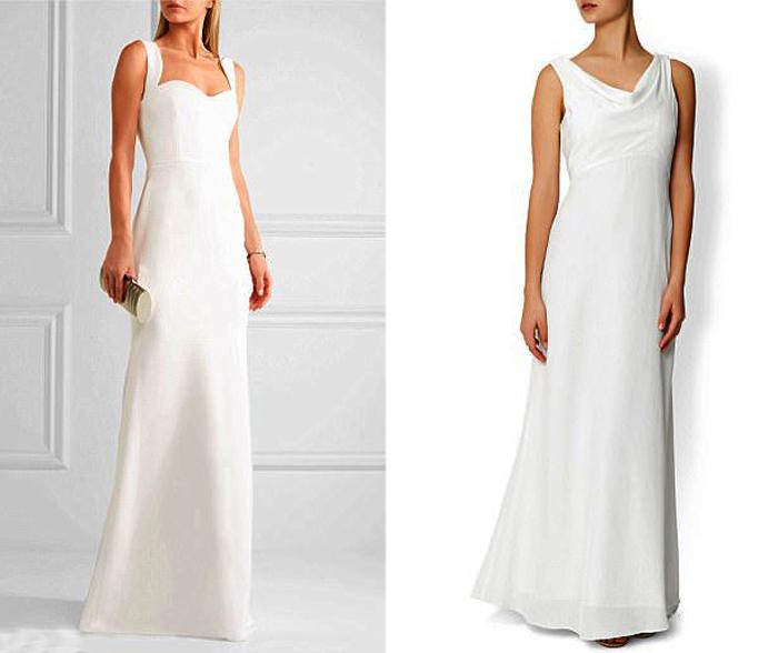 Белое платье по фигуре.