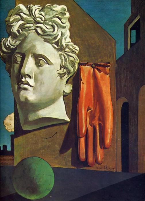 Песнь любви, 1914 год. Автор: Giorgio de Chirico.