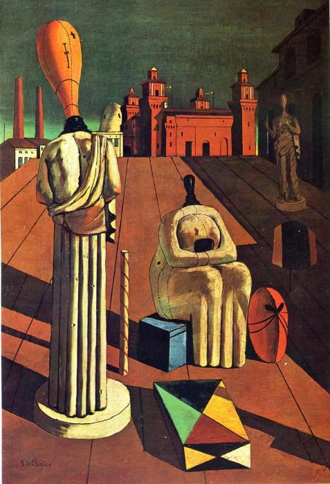 Беспокойные музы, 1918 год. Автор: Giorgio de Chirico.