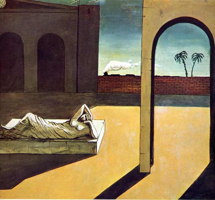 Вознаграждение предсказателя, 1913 год. Автор: Giorgio de Chirico.