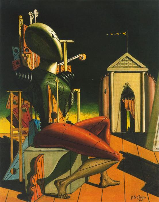 Предсказатель, 1916 год. Автор: Giorgio de Chirico.