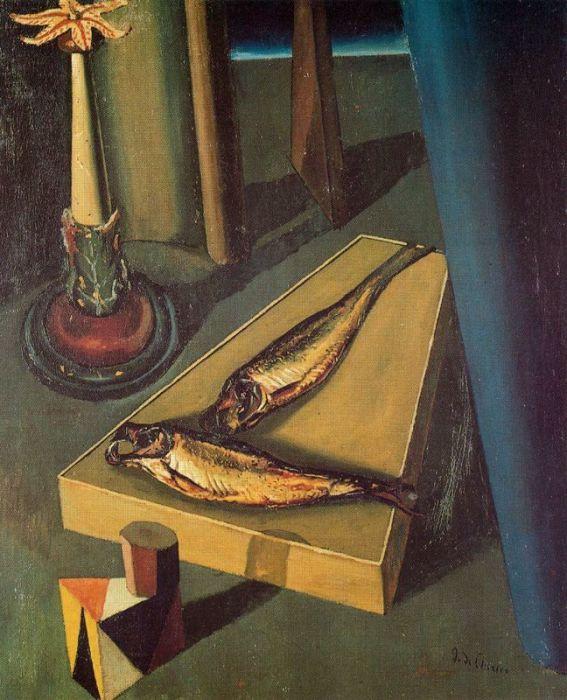 Святая рыба, 1919 год. Автор: Giorgio de Chirico.