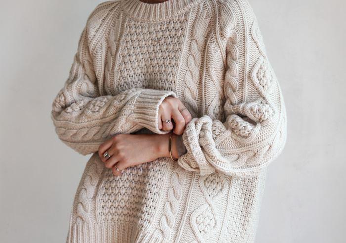 Знаменитый аранский свитер.